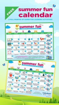 Download our 2019 Summer Fun Calendar! #summerfun #summeractivities Lakeshore Learning, Fun Learning, Learning Activities, Summer Activities For Kids, Games For Kids, Cool Calendars, Activity Games, Business For Kids, 100th Day
