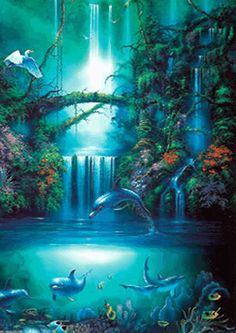 Water Animations - Oceans to Angels - Image 35 - Tranquil Waters - Fantasy Art Fantasy World, Fantasy Art, Water Images, Underwater Art, Angel Images, Scenery Pictures, Fantasy Landscape, Fairy Land, Under The Sea
