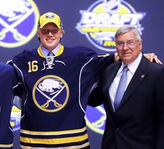 2016 NHL draft - first pick - Alexander Nylander with Sabres owner Terry Pegula