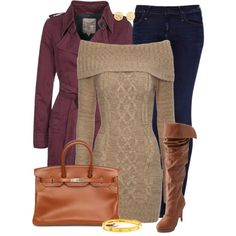 Neutral w/ A Touch of Purple, created by jafashions on Polyvore