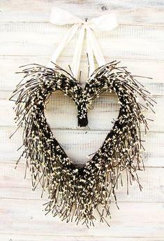 Rustic Antique White Wedding HeartCustom by WildRidgeDesign, $56.00