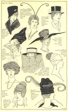 ~hats and turbans 1910-1920~