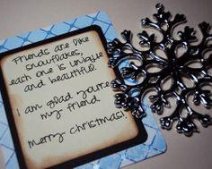 The Christmas Snowflake- Neighbor, Friend, Visiting Teaching Gift- Holidays Christmas Ornament lds mormon neighbor gift ornament teacher chr...