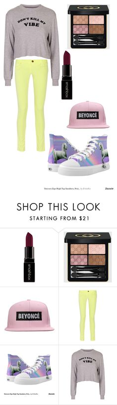 """omg ¥"" by reythefrog ❤ liked on Polyvore featuring Smashbox, Gucci, M Missoni, Zipz, Topshop, women's clothing, women, female, woman and misses"