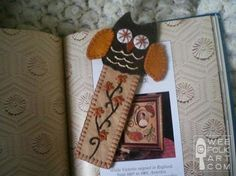 Embroidered Owl Bookmark - sew, stitch, felt, embroidery.