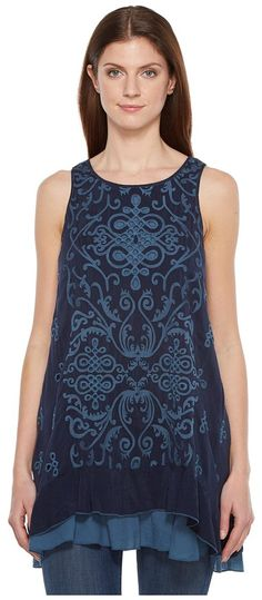 Johnny Was Winifred Twofer Tank Top (Deep Dawn) Women's Sleeveless - Johnny Was, Winifred Twofer Tank Top, C90665-2, Apparel Top Sleeveless, Sleeveless, Top, Apparel, Clothes Clothing, Gift, - Fashion Ideas To Inspire
