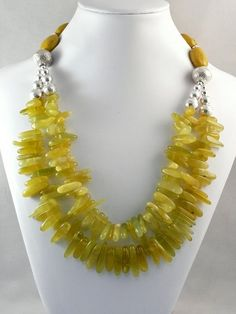Spring Time by madh11 on Etsy. Love the colour and simple styling of this elegant necklace! Curleytop1.