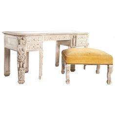 French Rococo Style Dressing Table with Bench sold $17,000