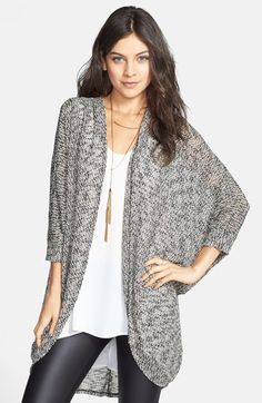 Painted Threads Oversized Sheer Knit Cardigan (Juniors) available at #Nordstrom