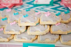 These elephant #cookies are so darling. #birthdayparty