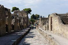 Herculaneum, Ausgrabung, Straße, Ercolano, Italy Naples Italy, Amalfi Coast, Napoli Italy