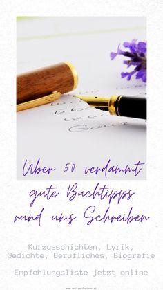 Du schreibst gerne oder möchtest gerne mit dem Schreiben beginnen? Wunderbar. Hier findest du eine Liste mit den besten deutschsprachigen Büchern, die es über das Schreiben gibt mit vielen praktischen Tipps. Lifehacks, Inspiration, Good Books, Handy Tips, Blogging, Tips And Tricks, Biblical Inspiration, Life Cheats, Life Hacks