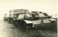 """supermarketsecurity: """" SdKfz 9 towing a disabled StuG """""""