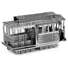 Trolley 3D Metallic Puzzle Educational DIY Toy-$2.67