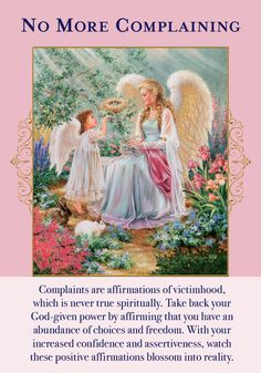 Oracle Card No More Complaining | Doreen Virtue - Official Angel Therapy Website
