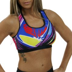 I love this Nuvo sports bra!  Super comfy! Hyper Colorburst Athletic Top #nuvonation