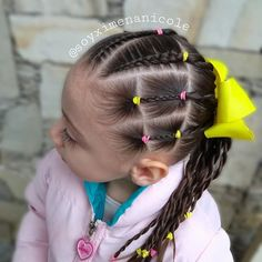 ✨ 𝑷𝒆𝒊𝒏𝒂𝒅𝒐𝒔 𝒑𝒂𝒓𝒂 𝒏𝒊𝒏̃𝒂𝒔 ✨ (@soyximenanicole) • Fotos y videos de Instagram Childrens Hairstyles, Easy Hairstyles For Kids, Baby Girl Hairstyles, Princess Hairstyles, Cute Hairstyles, Toddler Hair, Baby Boy Shower, Hair Hacks, Videos