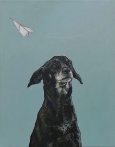 "Saatchi Art Artist: Iet Langeveld; Oil 2011 Painting ""Doggy"""