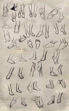 Feet study by ~Le-Vent-Art
