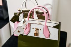 Louis Vuitton Steamer tote in pink, white and khaki