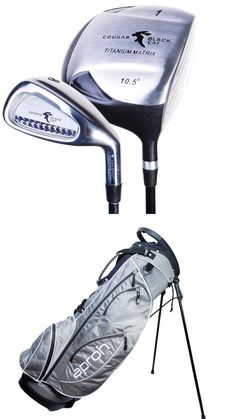 Cougar #black cat golf full set 10 clubs free #stand bag 3 woods 6 irons #putter,  View more on the LINK: http://www.zeppy.io/product/gb/2/291862130641/