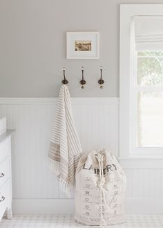 Wall paint color is Light French Gray from Sherwin Williams.  Beautiful light slight warm gray. Laine and Layne, The Home Co. |