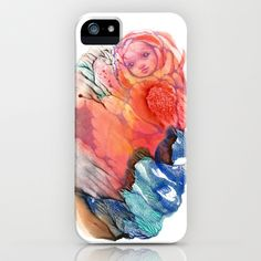 Flower Fairy Girl II iPhone & iPod Case by FlowerFairyArt - $35.00