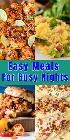 Check out these Quick and easy meals for busy nights!) kids dinner 15 Easy Meals For Busy Nights Quick Healthy Meals, Healthy Snacks, Healthy Recipes, Delicious Recipes, Dinner Recipes For Kids, Kids Meals, Dinner Ideas, Simple Meals For Dinner, Quick Meals For Kids