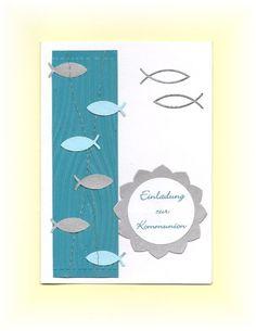 Einladungskarte Einladung zur Kommunion - 6 Farben