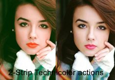 2-strip Technicolor Free Actions