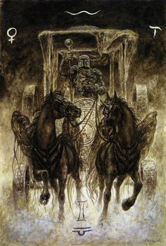 'The Chariot' - The Labyrinth Tarot.