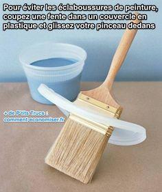 Utiliser un couvercle en plastique pour éviter les éclaboussures de peinture