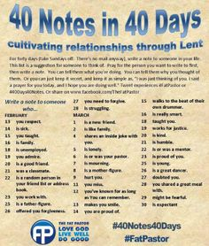 I was looking for something new/special to do this year for lent.i think i may just give it a try. Cultivating relationships through lent. Adonai Elohim, Catholic Lent, Catholic Quotes, Spiritual Disciplines, Religious Education, Holy Week, We Are The World, Me Time, Bible Verses