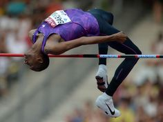 Mutaz Essa Barshim ties for fifth in the high jump at 7-6 (2.29m) during the 2015 Meeting Areva at Stade de France.  Kirby Lee, USA TODAY Sports