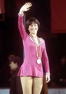 Dorothy Hamill: lived & went to Lake Placid High School. I watched her win her Olympic Gold Medal on a tiny black&white television in a big room at the Lake Placid Club - the only tv in the entire place. That was when I fell in love with skating. She will always be my very favorite and the most beautiful skater ever.