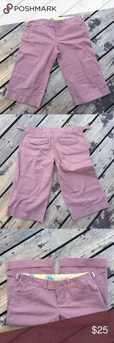 Lux Bermudas Lux Bermudas. Super cute and comfy. Only worn a couple times. You can tighten waist. Light plum color. Lux Shorts Bermudas