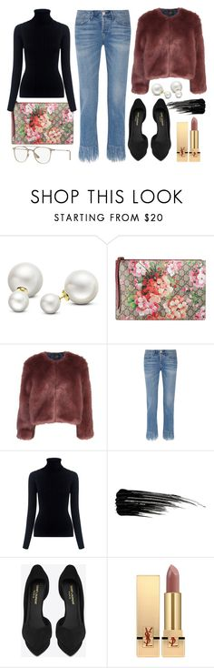 """Fringe"" by chichismash ❤ liked on Polyvore featuring Allurez, Gucci, Stine Goya, 3x1, M.i.h Jeans, Urban Decay and Yves Saint Laurent"