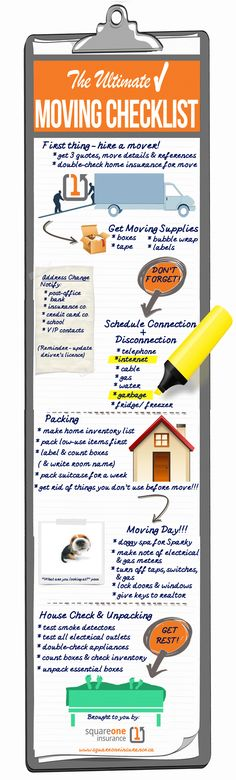Moving Checklist Planner Printable  Moving Checklist Template