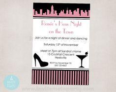 Bachelorette Invitation / Hens Night Invitation by InviteMe2Party, $12.00