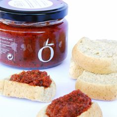 Natural Tapenade made out of sundried tomatoes mixed with just some extra virgin olive oil & herbs