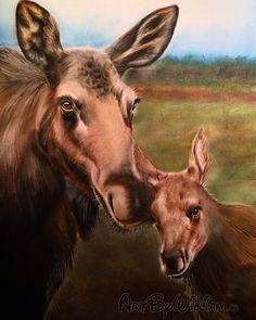 """Springtime in Newfoundland"". 100% Pastel Art. Artist: www.ArtByWilliam.ca. Instagram: @artbywilliam Pastel Art, Newfoundland, Spring Time, Moose Art, Artist, Animals, Instagram, Animales, Animaux"