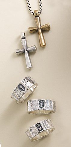b6837a01c Find rustic styles and symbols of faith that capture his (or her) style. |  For the Guys | James avery, Gifts for him, Her style