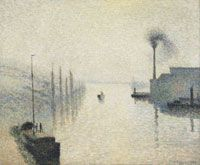 Philadelphia Museum of Art - Collections Object : L'Île Lacroix, Rouen (The Effect of Fog)