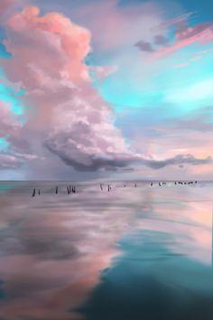 speed painting/Ha Ji Young/40min./cloud
