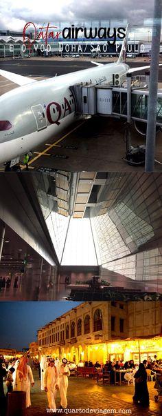 Como é viajar de Qatar Airways, Doha a São Paulo 🌍🇶🇦 #doha #aeroporto #quartodeviagem