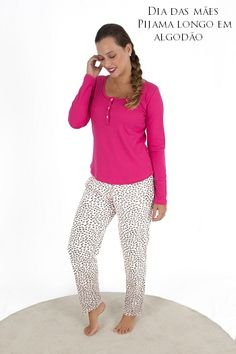 86a7a154e Este pijama para amamentação é um modelo muito prático e confortável