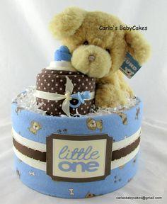 Boy diaper cake  Baby diaper cake  Baby shower gift  Unique