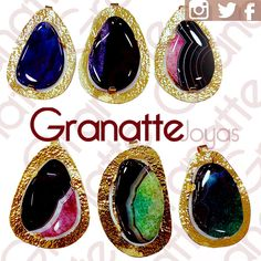 #dijes #cristales #cristal #agata #goldfilled #dijes #ágata #joyas #accesorios #granatte #mujer