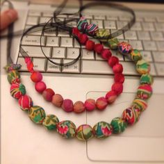 How to Make a Fabric-Covered Bead Necklace