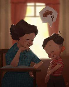 Dreamy Illustrations By Renan Porto - Draw Central Illustration Mignonne, Illustration Vector, Children's Book Illustration, Character Illustration, Character Drawing, Art Reference, Book Art, Drawings, Artist